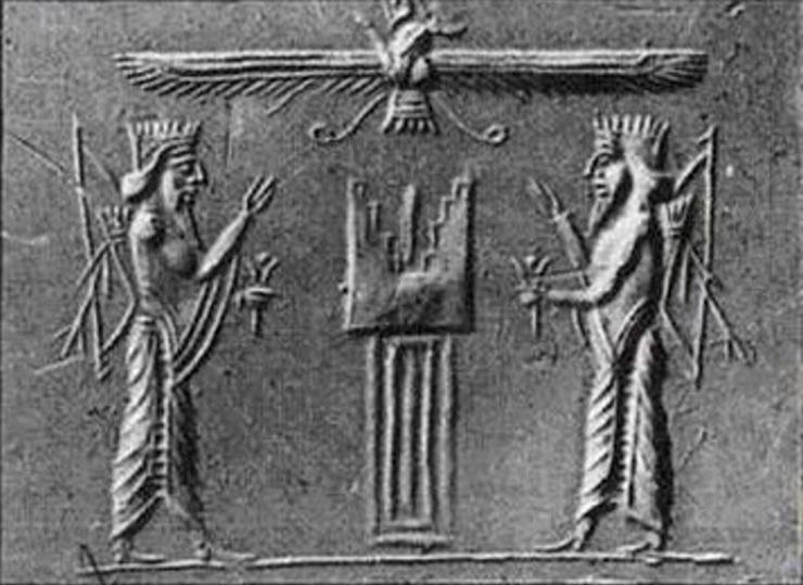 «Древо Жизни» на древнейшем шумерском барельефе олицетворяет ступенчатую программу проекта «Человек»