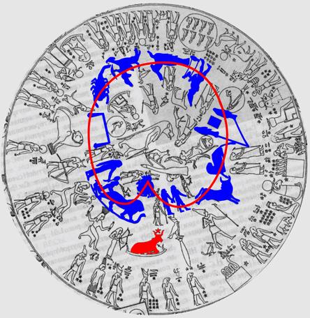 Сириус на круглом дендерском зодиаке
