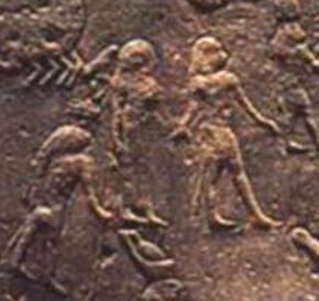 Зодиакальные Близнецы на круглом Дендерском зодиаке