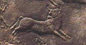 Зодиакальный Телец на круглом Дендерском зодиаке