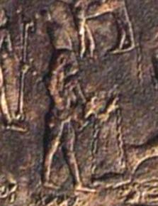 Зодиакальный Водолей на круглом Дендерском зодиаке
